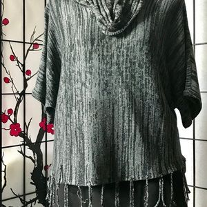 ➕Fringed Cowl Neck Top
